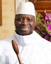 Dictator and President of Gambia Yahya Jammeh