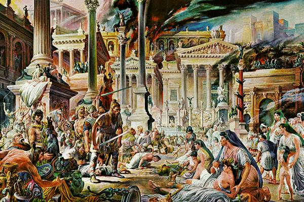Visigoths led by Alaric I, sack Rome