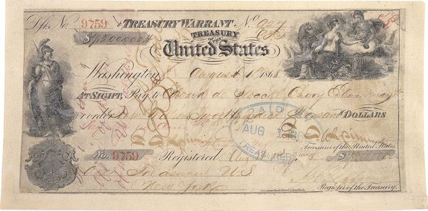 The check used by the United States to purchase Alaska at less than 2 cents an acre