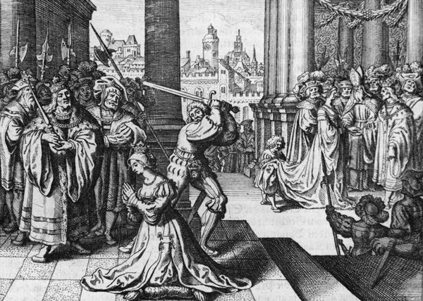 Anne Boleyn is beheaded after a four day show trial