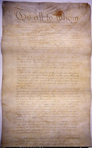 The Articles of Confederation, the first constitution of the United States of America