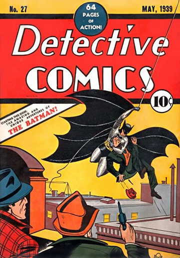 Cover page of Detective Comics #27, the first comic in which Batman appeared