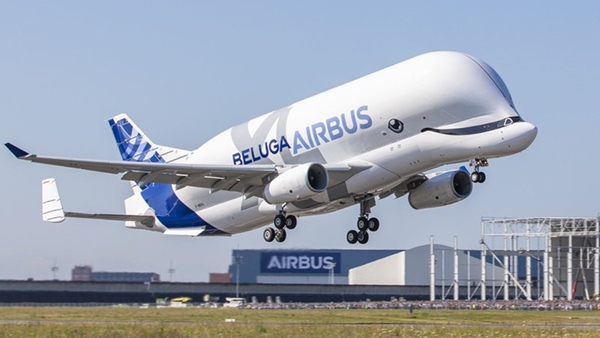 The Airbus Beluga XL, built to transport large aircraft pieces