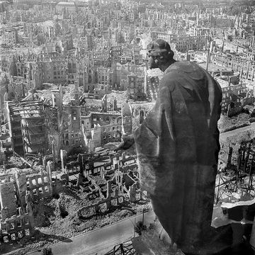 Dresden after the Allied firebombing campaign in 1945