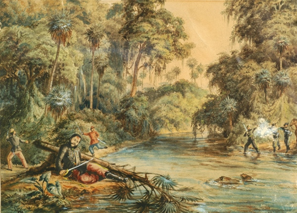 Death of Francisco Solano López by the River Aquidabán, during the Battle of Cerro Corá