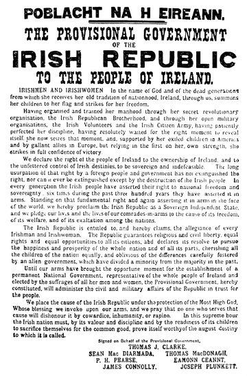 The Provisional Government of the Irish Republic to the people of Ireland
