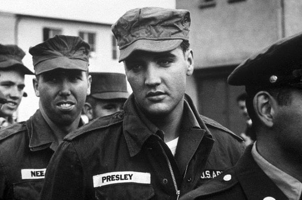 Conscripted in 1958, Elvis Presley served two years in the U.S. Army
