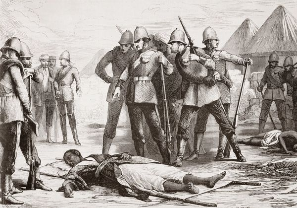 British soldiers discover the body of Emperor Tewodros II after he committed suicide following the Battle of Magdala