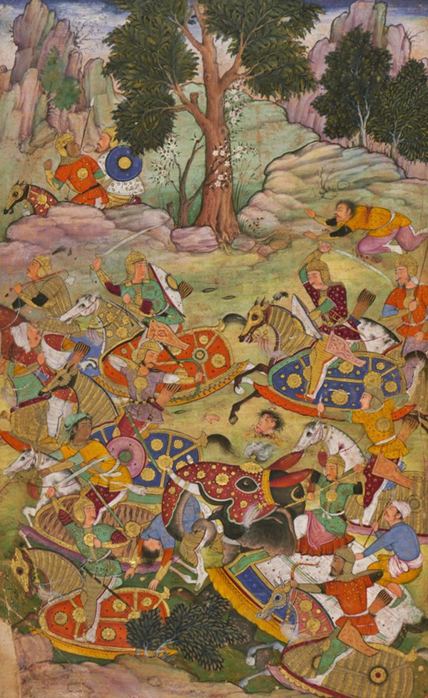 The Battle of Panipat, fought between the invading forces of Babur and the Lodi Kingdom