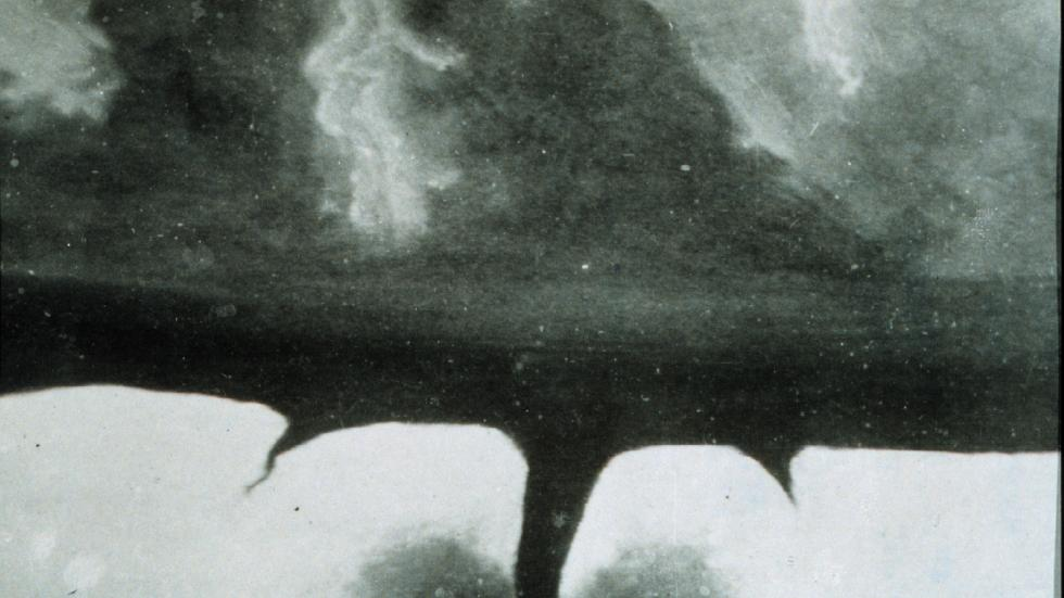 The 1st known photograph of a tornado, taken in 1884 by F.N. Robinson
