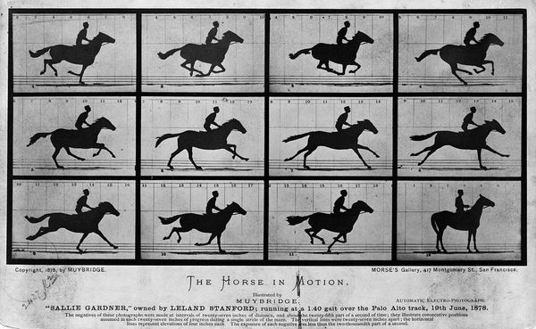 The first moving images ever captured, Sallie Gardner at a Gallop, taken in 1878 by Eadweard Muybridge