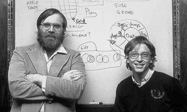 Paul Allen and Bill Gates, the founders of Microsoft