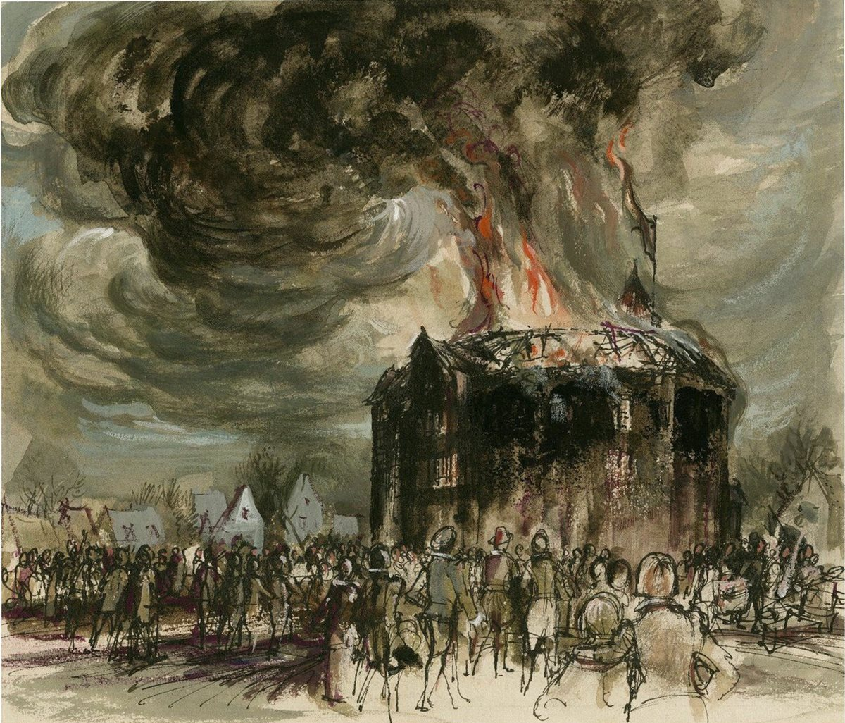 Globe Theatre Fire (Famous Painting) - On This Day