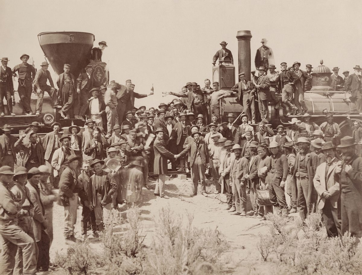 The 1st Transcontinental Railroad is finished at last!