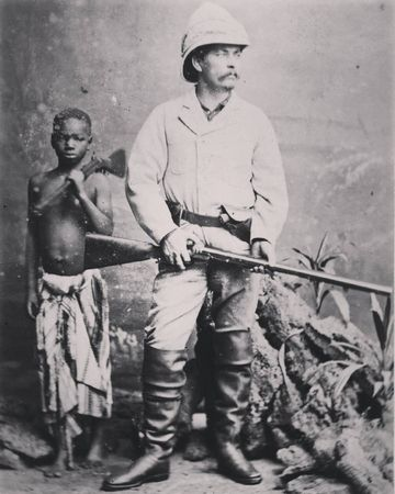 Welsh journalist and explorer Henry Morton Stanley with Kalulu who he later adopted