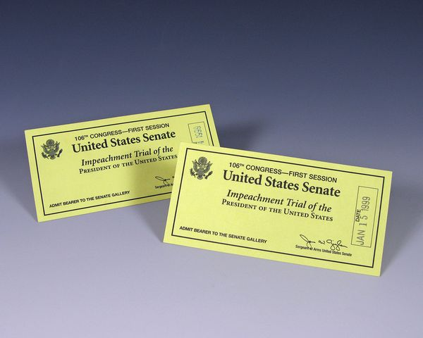 Tickets issued to former President Gerald Ford and his wife Betty