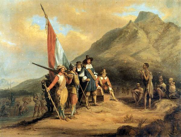 Jan van Riebeeck arrives in Table Bay