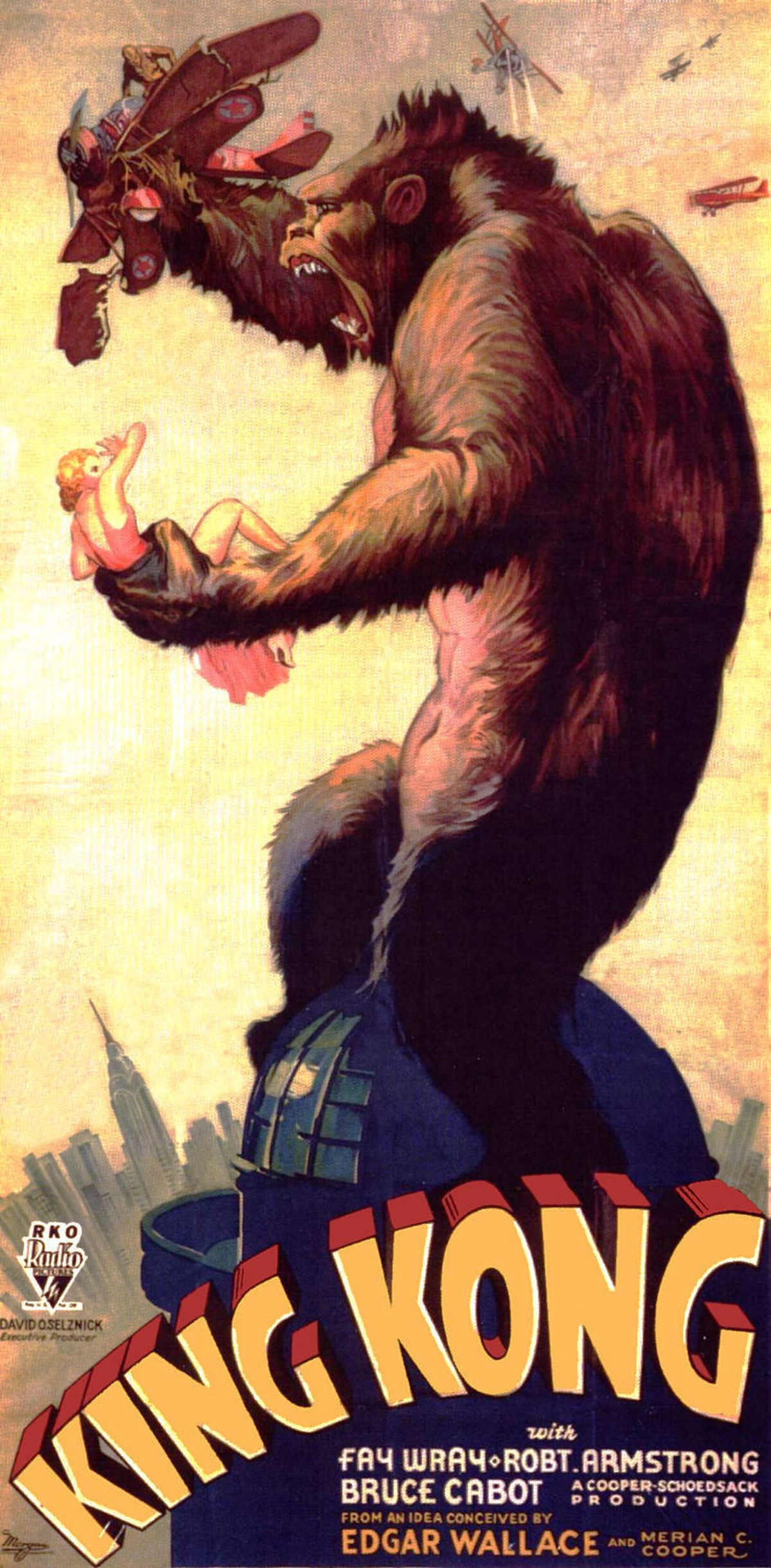 "Poster for the 1933 film ""King Kong"", the first in a series of movies about the giant gorilla"