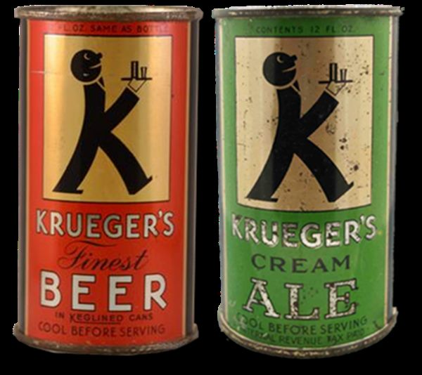 Krueger's Cream Ale and Krueger's Finest Beer, sold by American company Krueger Brewing Co.