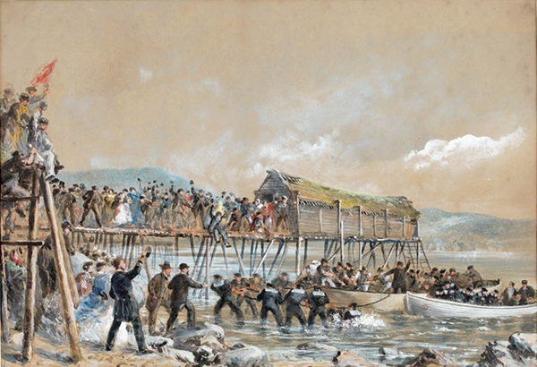 Landing of the Atlantic Cable of 1866, Heart's Content, Newfoundland