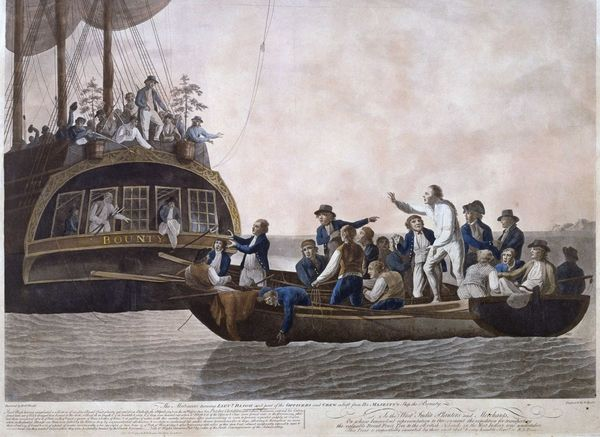 Lieutenant William Bligh is set adrift by the mutineers aboard the HMS Bounty on April 28, 1789