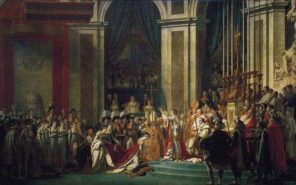 Napoleon is crowned Emperor of the French at Notre-Dam on December 2, 1804, painting by Jacques-Louis David