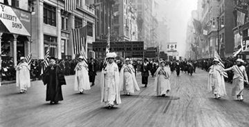 Women's Suffrage March on Fifth Ave, New York