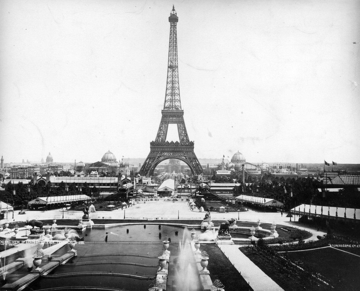The Eiffel Tower on opening day in Paris