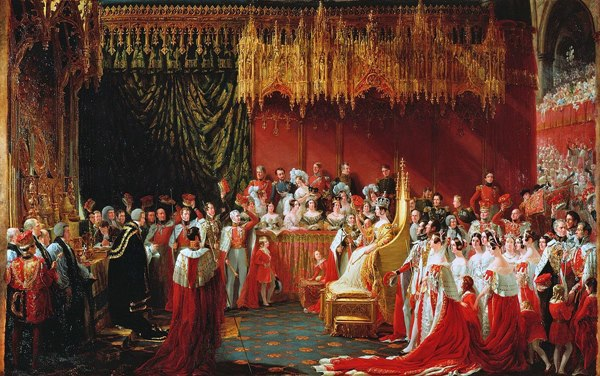 Coronation of Queen Victoria in Westminster Abbey by Sir George Hayter