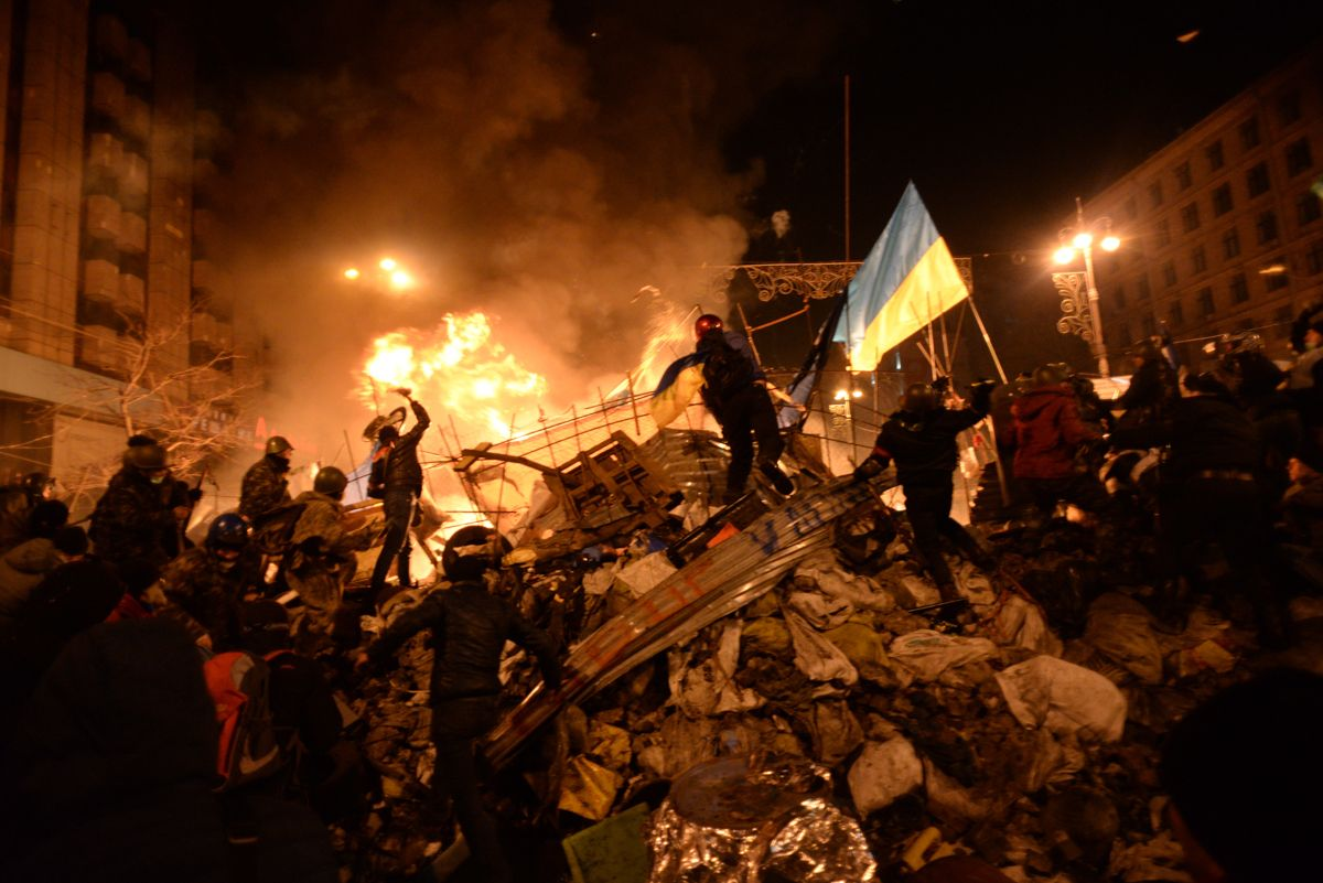 Clashes in Kiev, Ukraine during the 2014 revolution