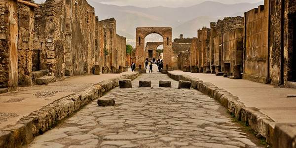 The ruins of Pompeii, still standing after over 2000 years