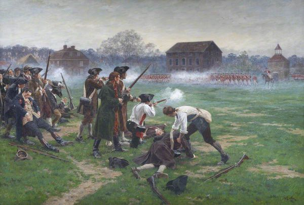 'Battle on Lexington Green' as painted by William Barnes Wollen