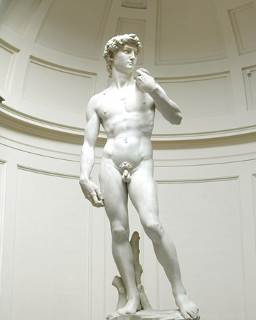 A masterpiece of Renaissance sculpture, The Statue of David completed by Michelangelo in 1504