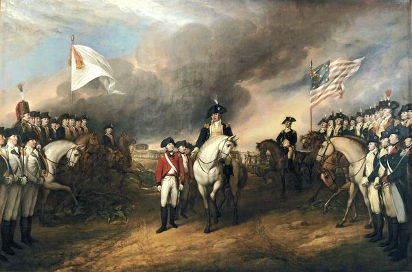 'Surrender of Lord Cornwallis' by John Trumbull depicting the British surrender which ended the American Revolutionary War