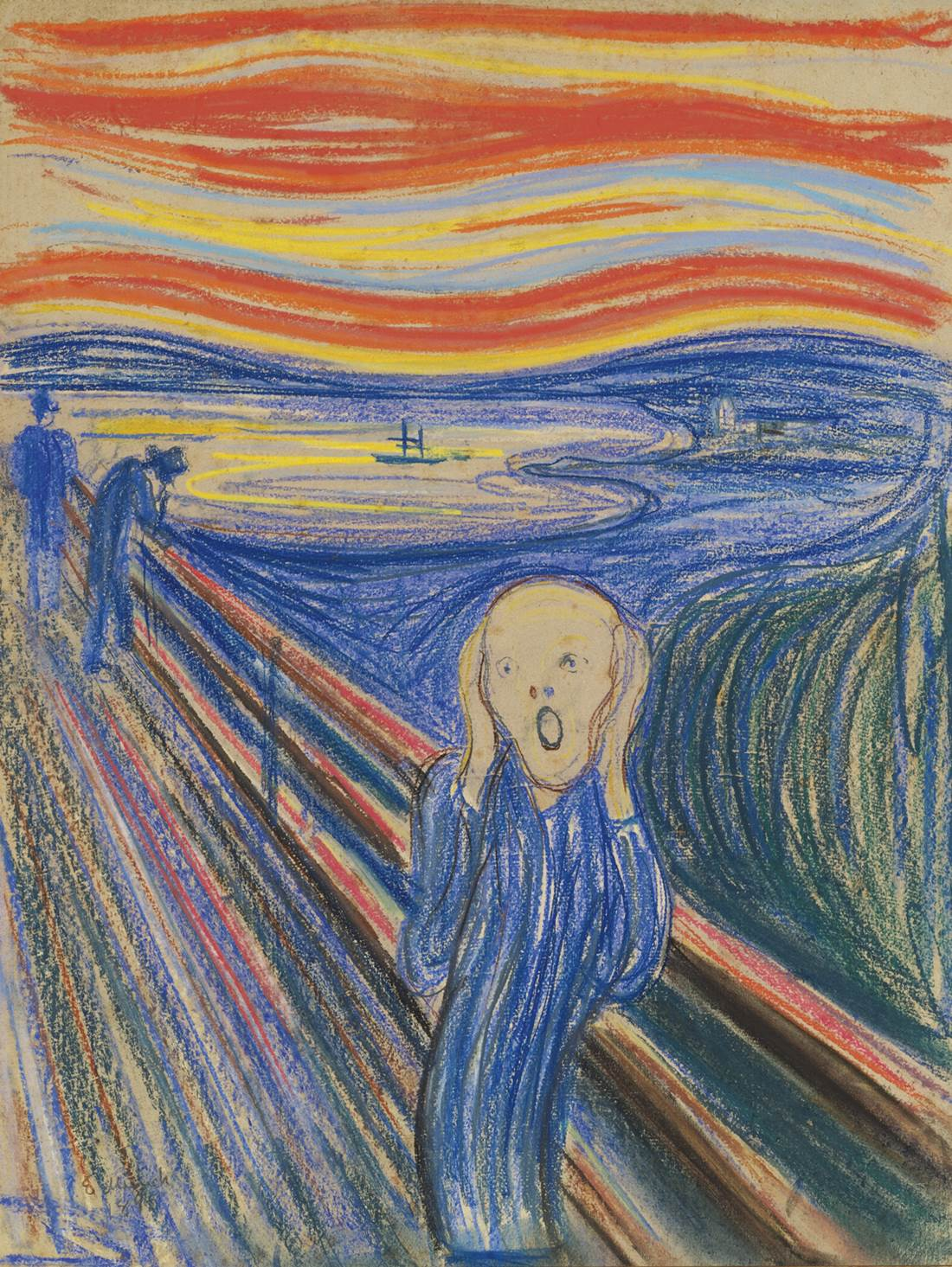 """The Scream"", pastel on cardboard by Edvard Munch"