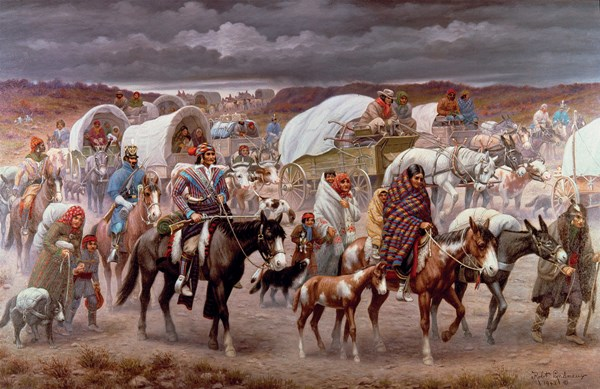 The Trail of Tears, painting by Robert Lindneux, 1942