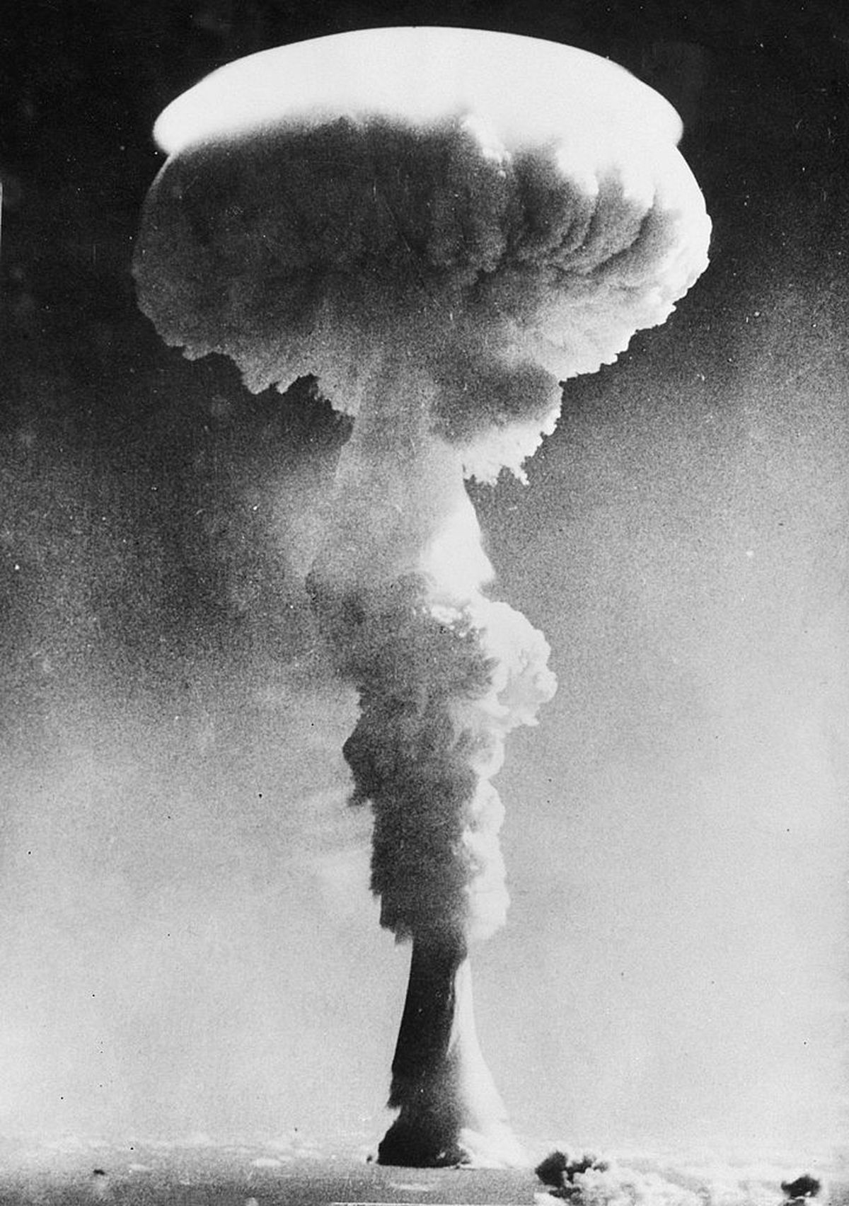 The first British hydrogen bomb test, Operation Grapple
