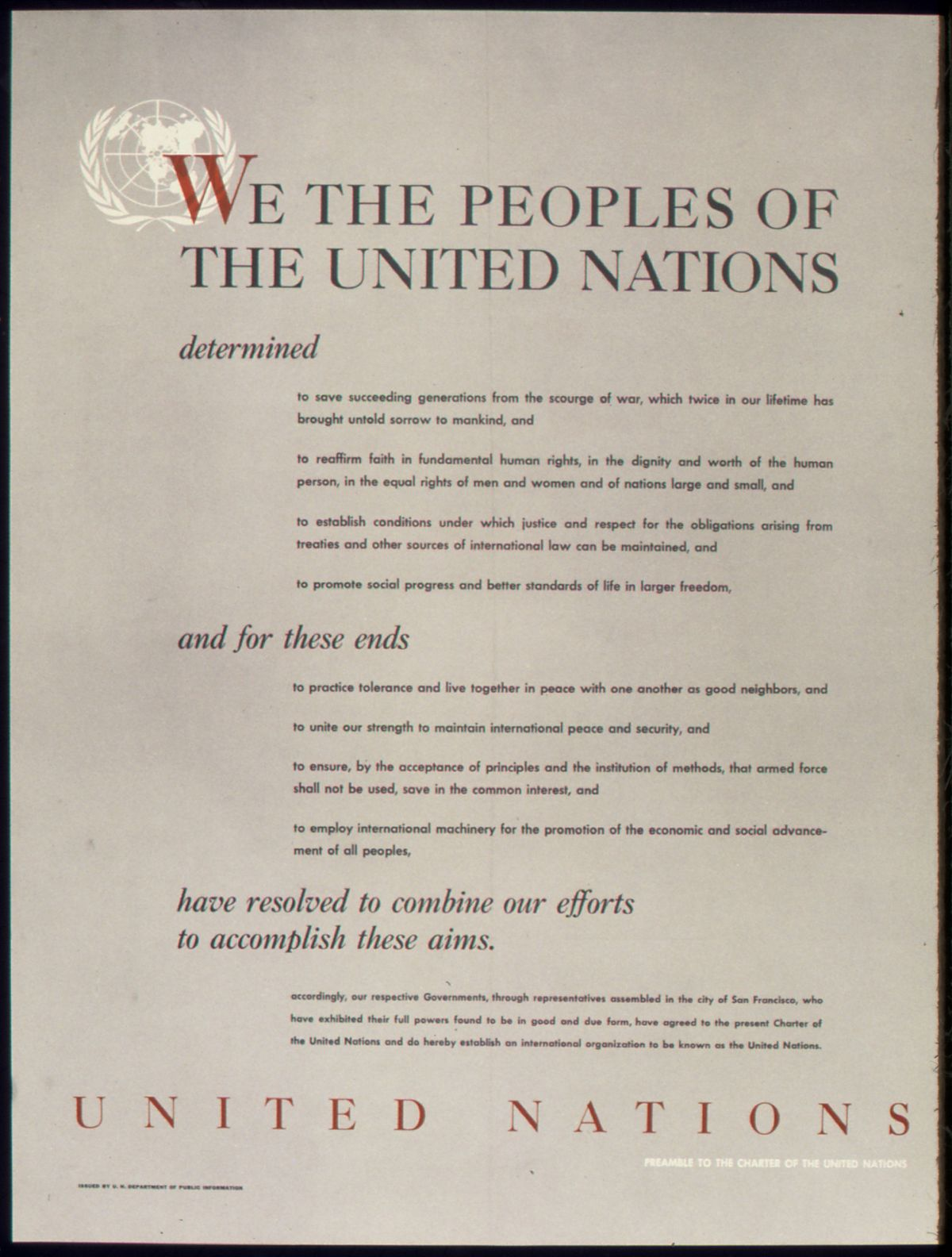 Preamble to the Charter of the United Nations