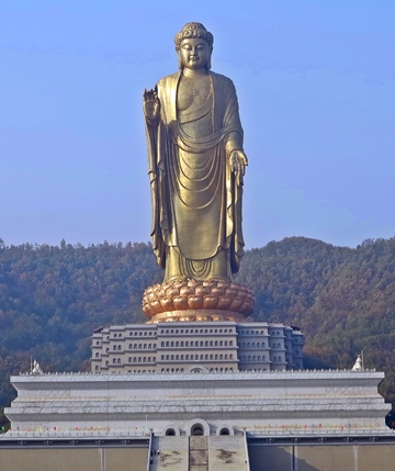 The Spring Temple Buddha statue depicting Vairocana Buddha in Henan, China