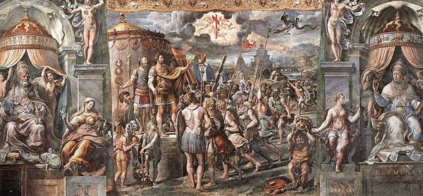 Roman Emperor Constantine as depicted by Raphael having his Vision of the Cross on October 27, 312