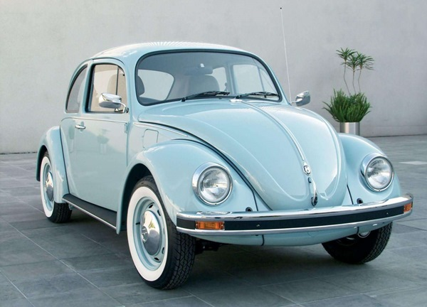 The last edition of an 'old style' VW Beetle