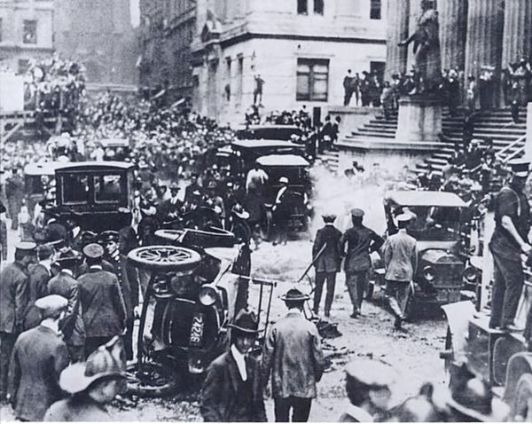 Aftermath of the attack on Wall Street, September 16, 1920
