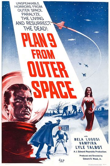 Poster for Ed Wood's cult film Plan 9 from Outer Space