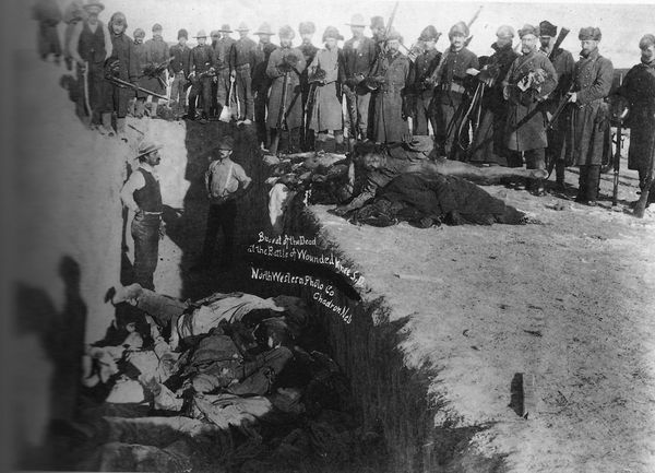 Mass grave for the dead after the massacre